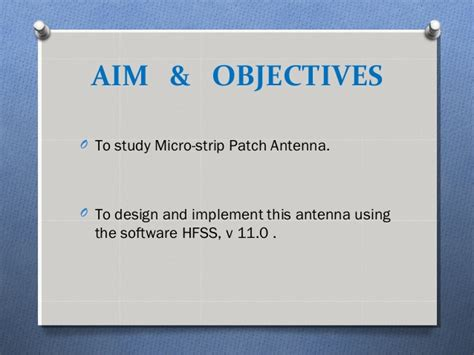 Thesis on microstrip patch antenna design  Vegasliteracy ml